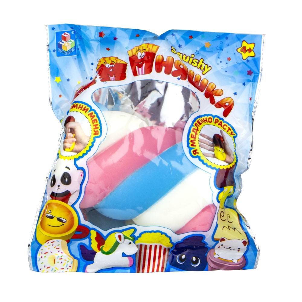 1toy игрушка-антистресс мммняшка squishy (сквиши), маршмеллоу,15см