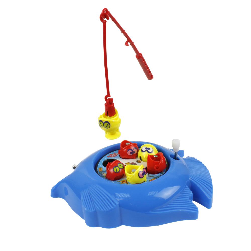 Игровой набор рыбалка, платформа, удочка, 6 рыбок, 4 в., в пакете