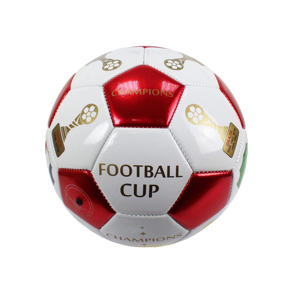 1 Toy футбольный мяч Foam ПВХ 23 см, 2-х слойный, машинная сшивка Чемпионы