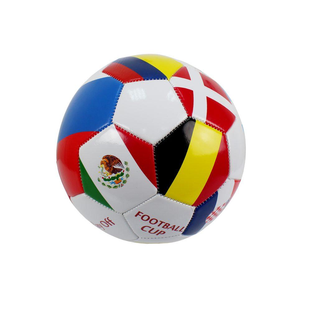 1 Toy футбольный мяч ПВХ 23 см, 2-х слойный, машинная сшивка Play off