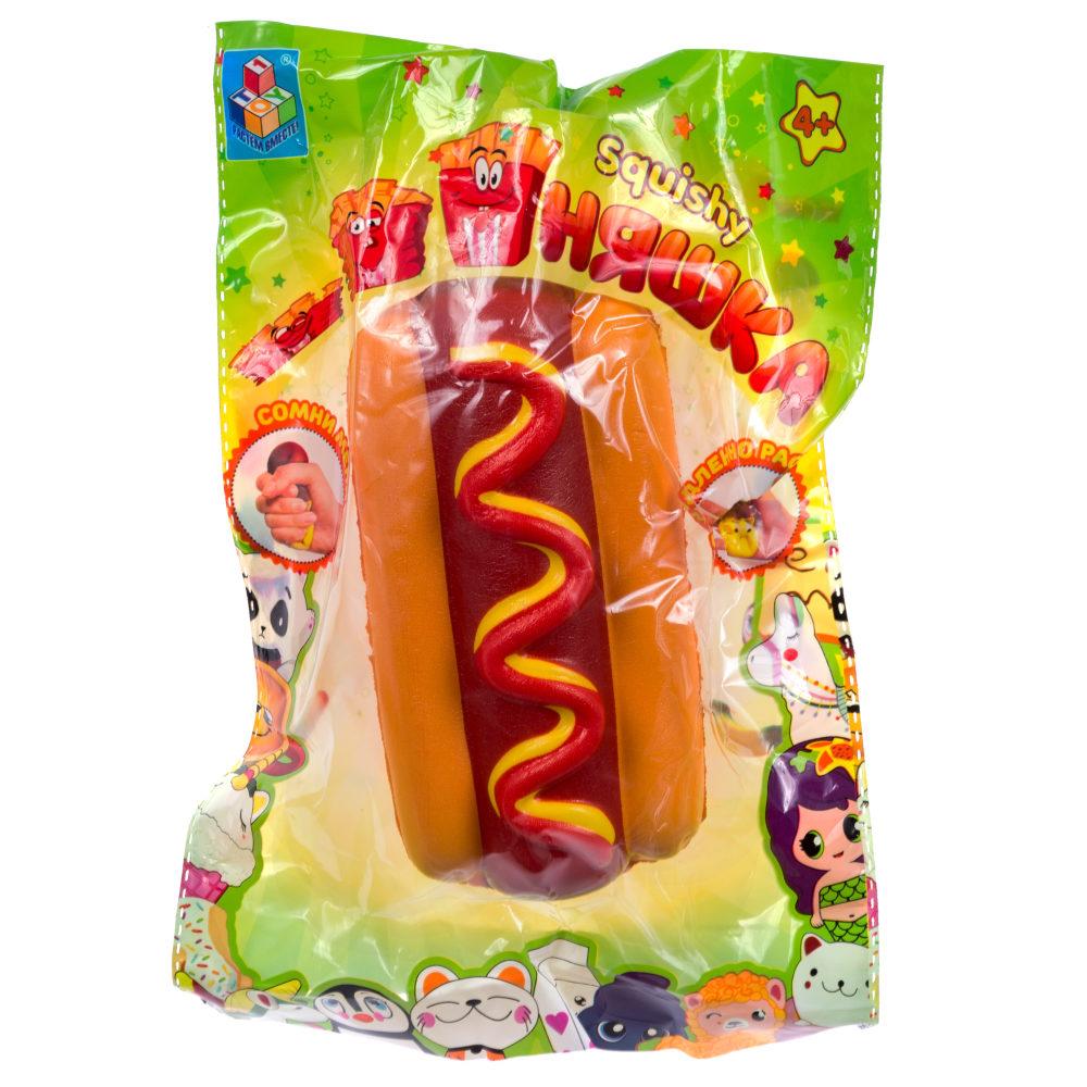 1toy игрушка-антистресс мммняшка squishy (сквиши), хот дог,55 гр