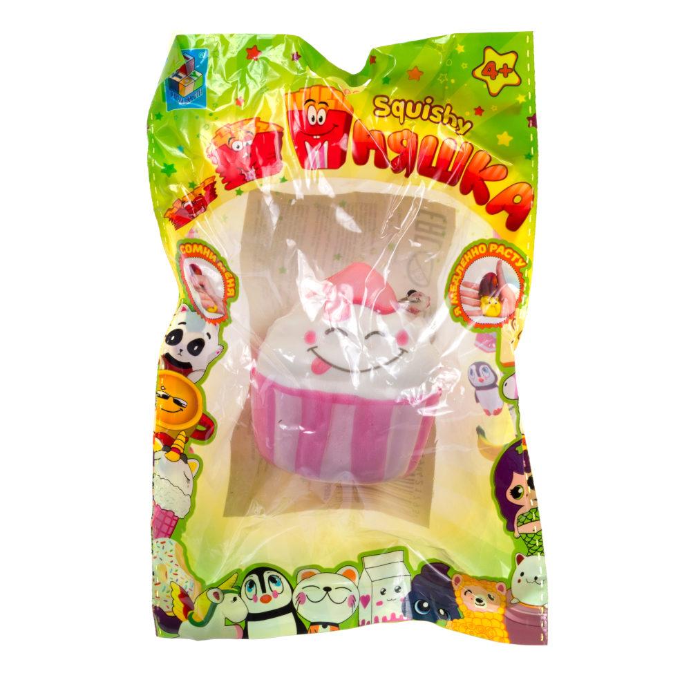 1toy игрушка-антистресс мммняшка squishy (сквиши), мороженное в стаканчике 23 гр.