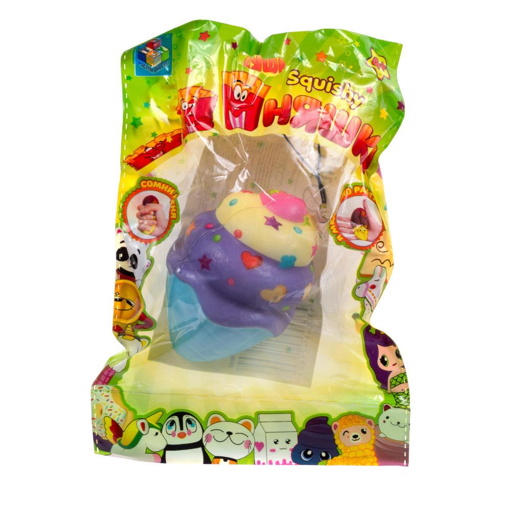 1toy игрушка-антистресс мммняшка squishy (сквиши), мороженное в рожке 23 гр.