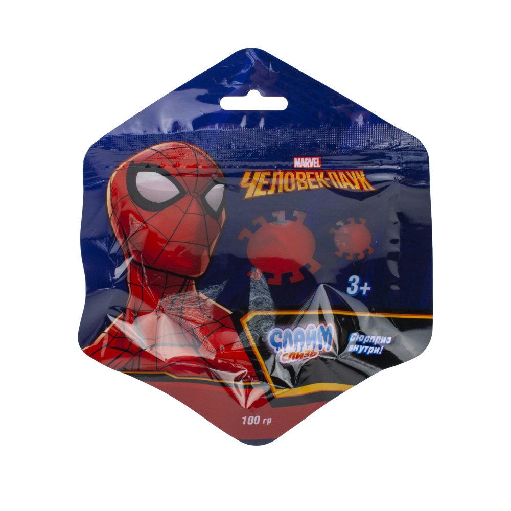Слизь Человек Паук в пакете с европодвесом 100 гр, д/б 12 шт.