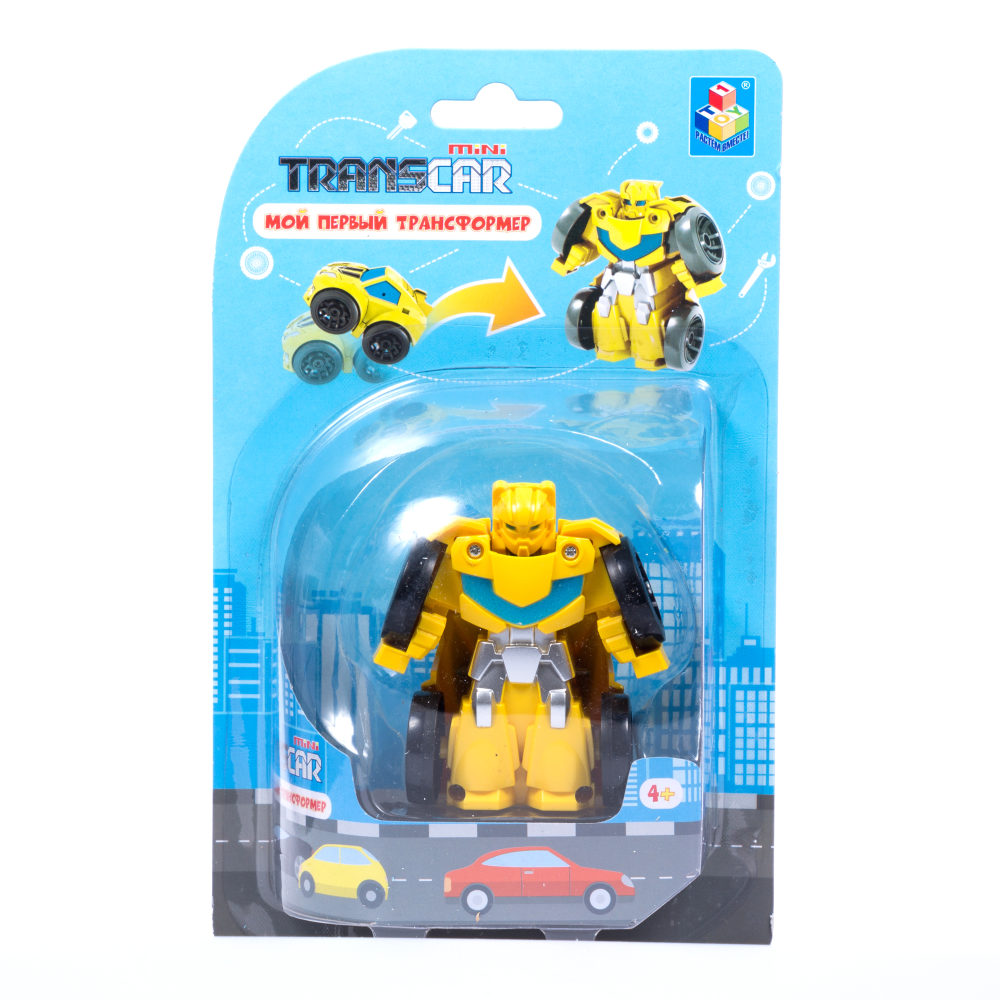 1toy Мой первый трансформер (собирается в спорткар, 6 см, блистер, желт.)