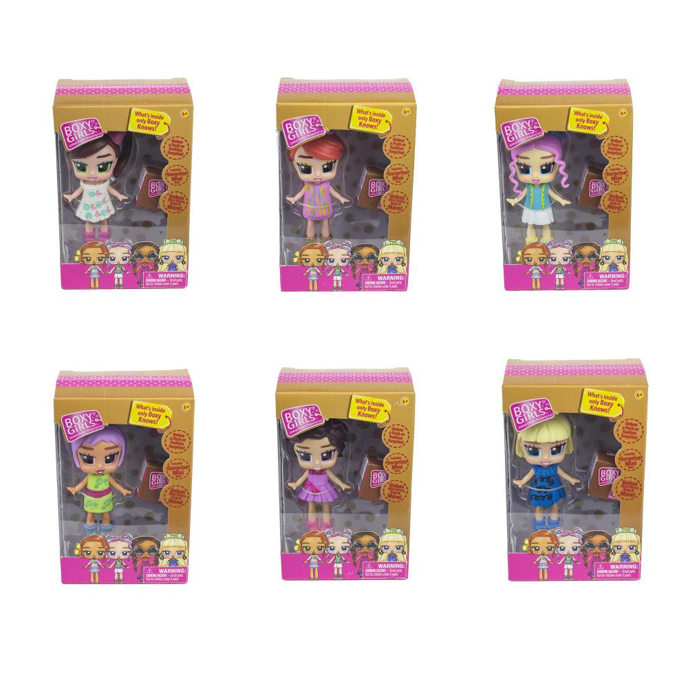 1toy Кукла Boxy Girls MINI 8 см с аксес.в 1кор.,6в.(Tasha,Coco,Lina x 2,Trinity, Ellie x 2,Bee),кор.,8 шт.в д/б