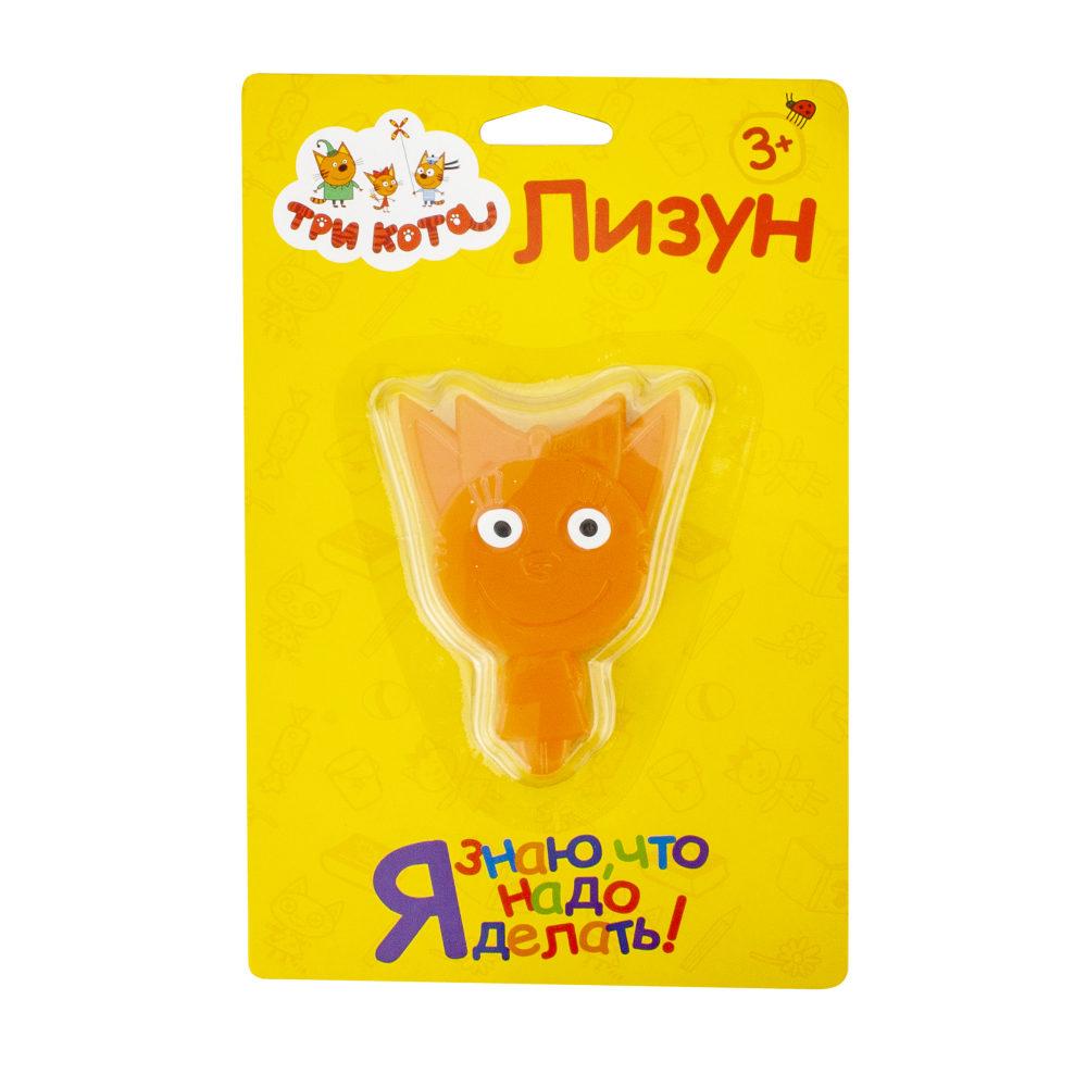 Лизун ТРИ КОТА. Карамелька в упаковке 16х10,5 см