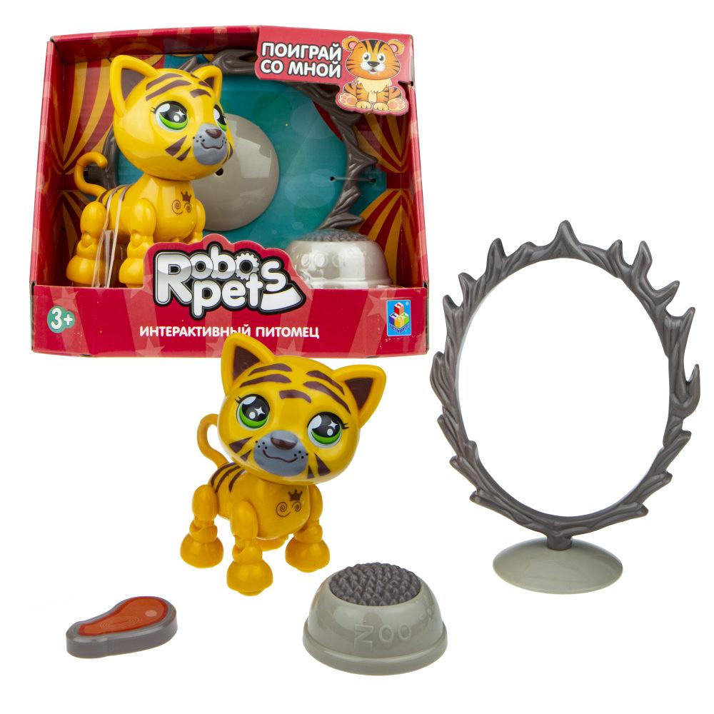 1 toy, игрушка со звук.эффектами Артист цирка Тигр, 3 бат LR44 в компл.