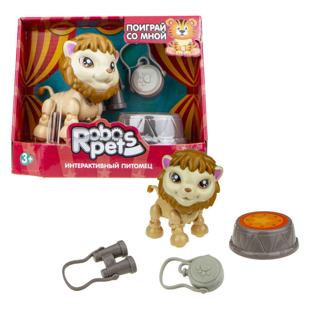 1 toy, игрушка со звук.эффектами Артист цирка Лев, 3 бат LR44 в компл.