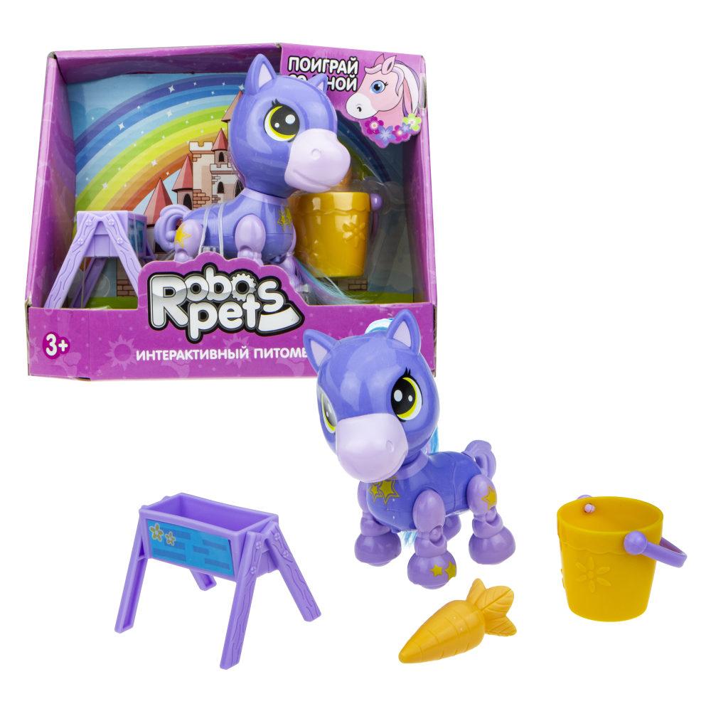 1 toy, игрушка со звук.эффектами Игривый пони фиолетовый, 3 бат LR44 в компл.