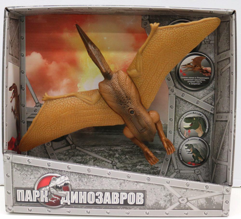 1toy, игрушка интерактивный Динозавр (2*АА входят в компл) свет и звук, коробка 32х29х9,2 см, Птеранодон