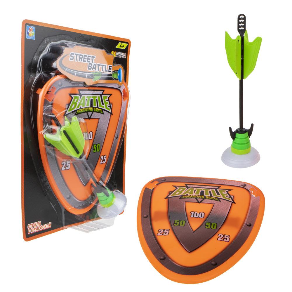 1toy Street Battle игр набор (в компл. стрела с присоской и щит-мишень, см, блистер)