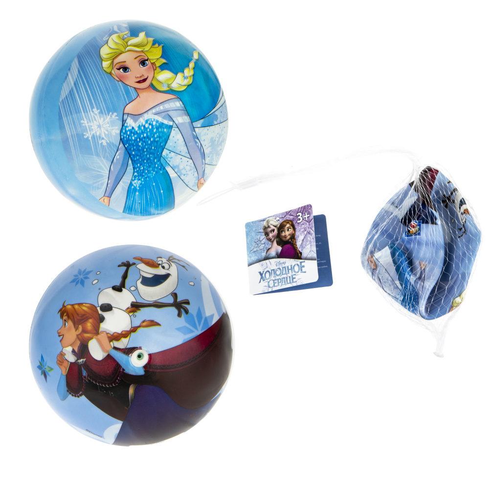 1toy Disney Холодное сердце мяч ПВХ, полноцветн, 15 см, 50 г, сетка и бирка