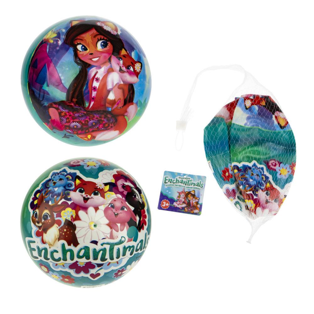 1toy Enchantimals мяч ПВХ, полноцветн, 23 см, 90 г, сетка и бирка