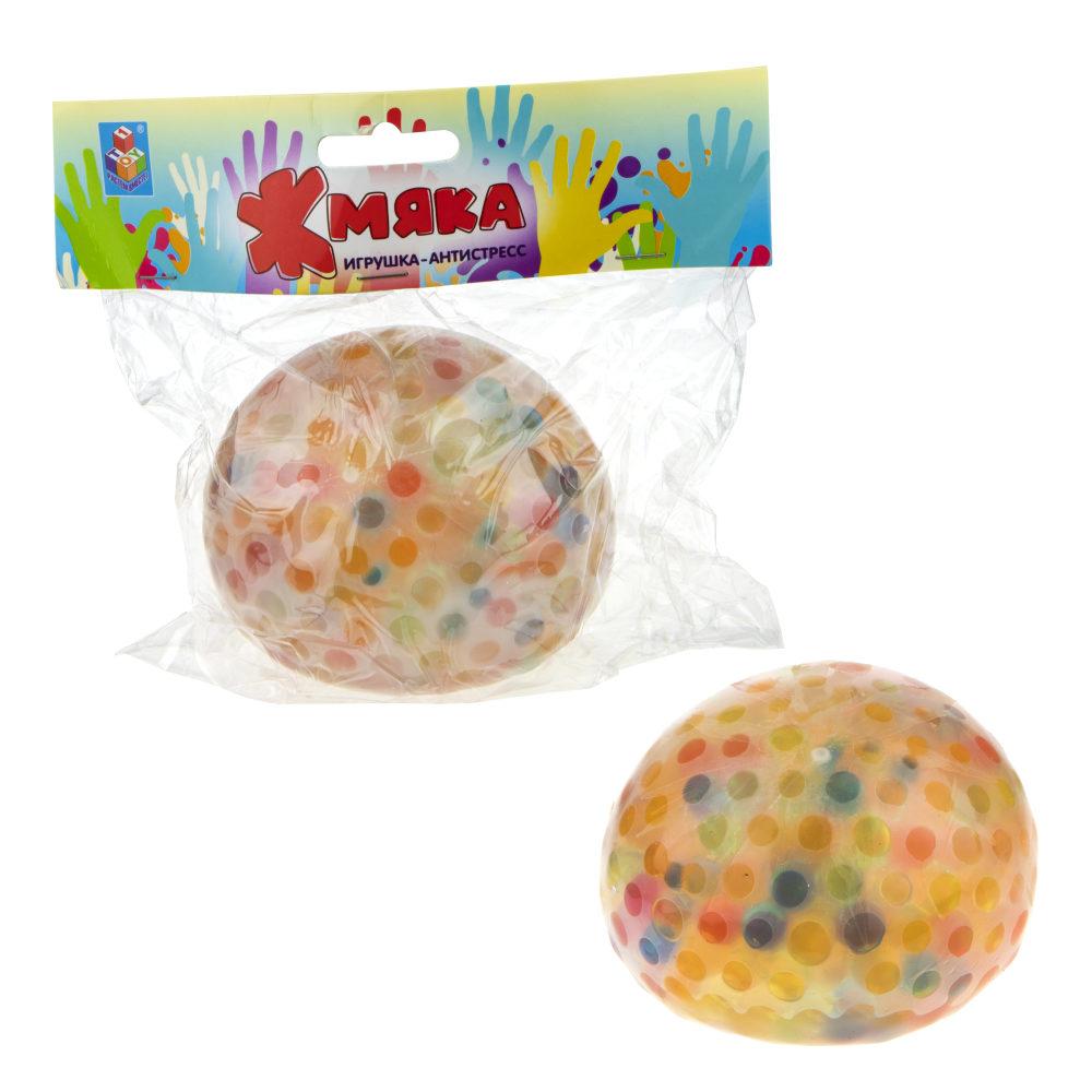1toy  Жмяка шар макси с разноцветными шариками, 10 см