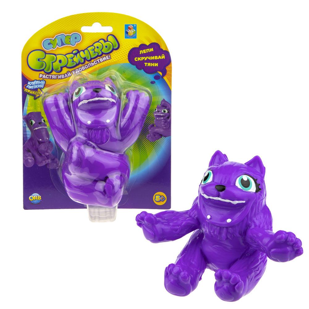 1TOY Супер Стрейчеры Тянихвост, блистер, 11см, фиолетовый