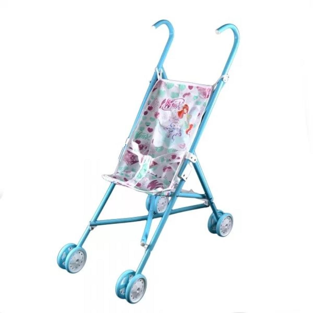 1toy Winx коляска для кукол, пласт.каркас, 42х27,5х58см, голуб