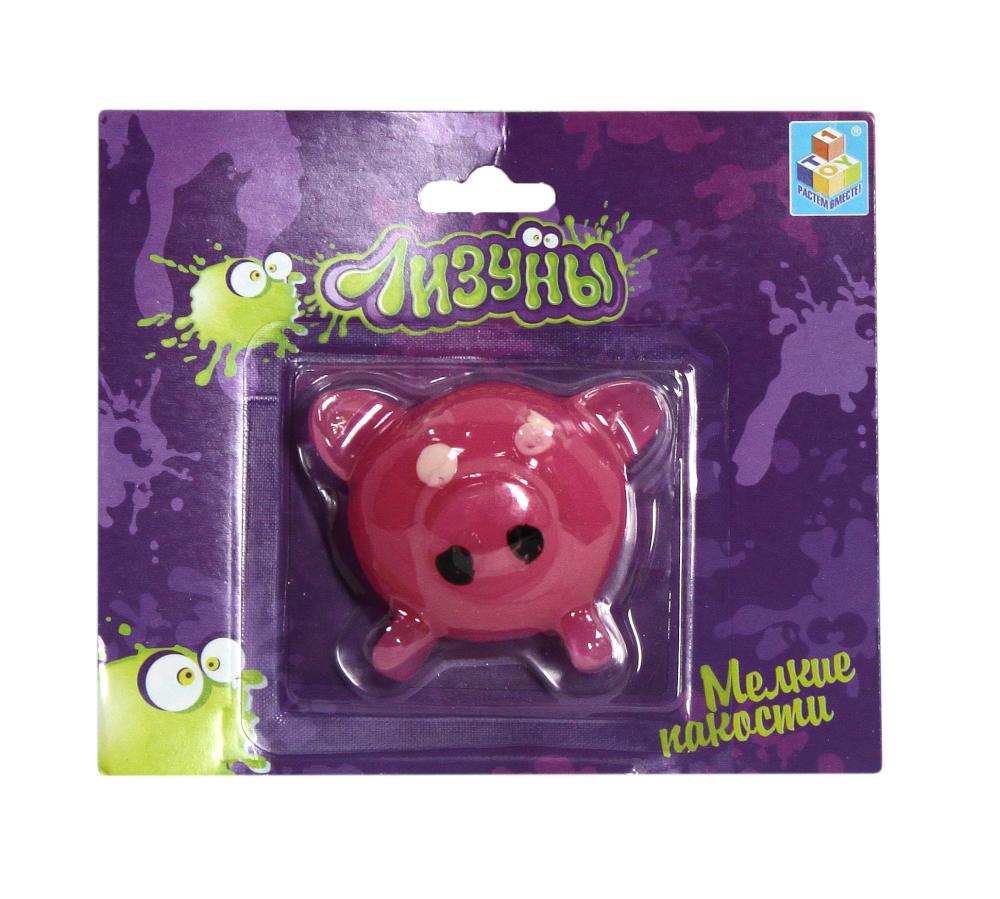 1toy Мелкие пакости Лизуны свинья 6,5х5,5 см. блистер.