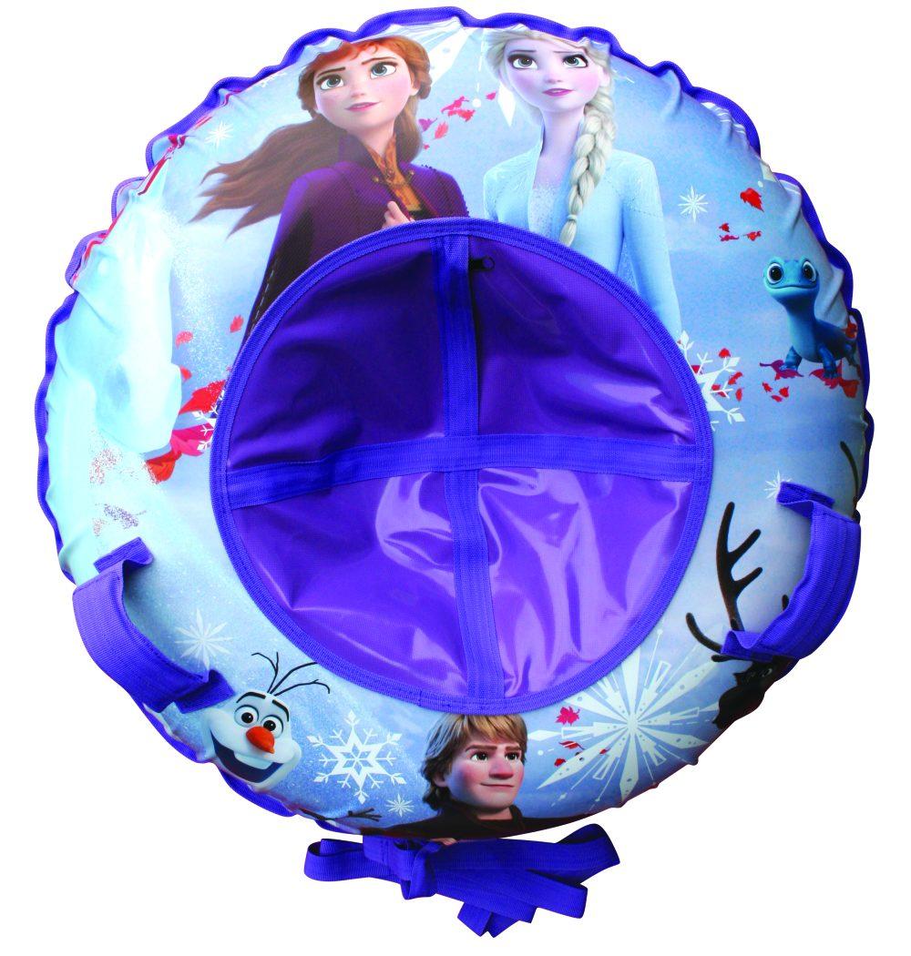 DISNEY Холодное сердце тюбинг - надувные сани,резин.автокамера, материал глянцевый пвх 500 гр/кв.м.,85см,букс.трос,цветн.кор.