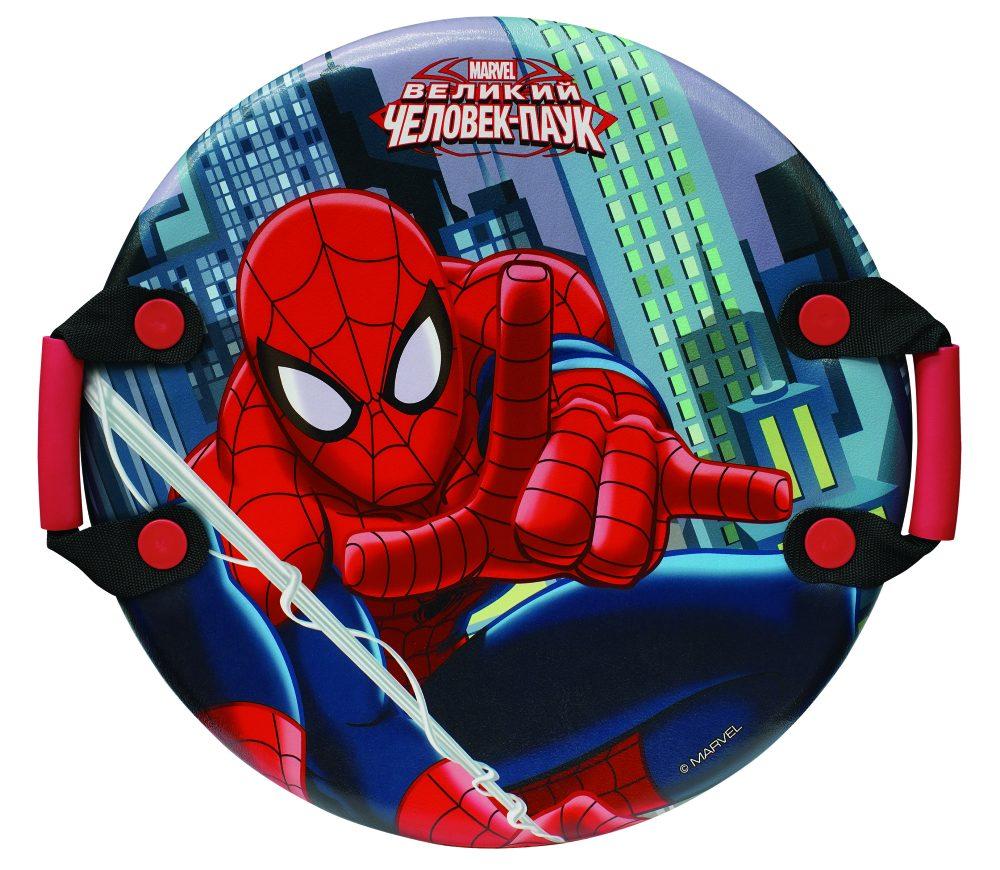 Marvel Человек-Паук ледянка 54см, кругл.с плотн.ручками