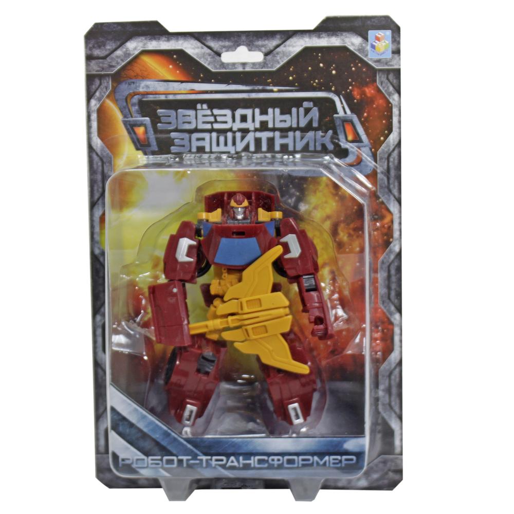 1toy Звёздный защитник, робот-трансформер 13 см, собирается в машину, блистер