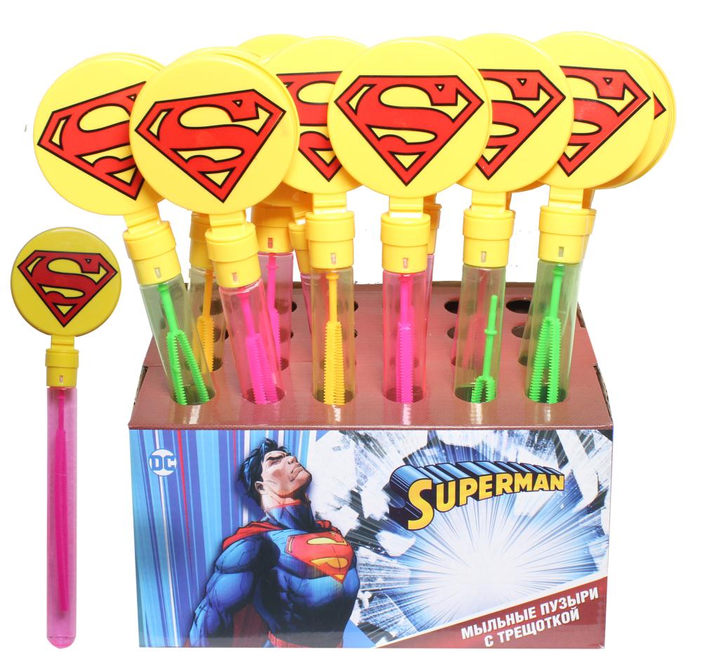 """Мыльные пузыри с трещоткой """"Superman"""" 60 мл."""
