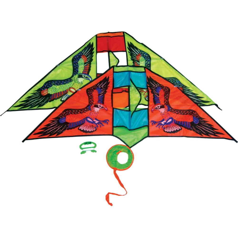 Тилибом Воздушный змей Орел усложненный каркас мал. катушка (леер 30м) 116х50см