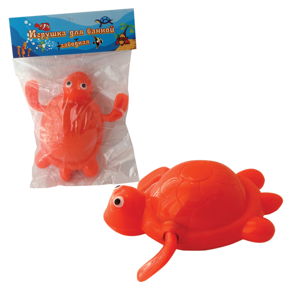 Тилибом, Заводная игрушка для ванной, черепаха, 9 см