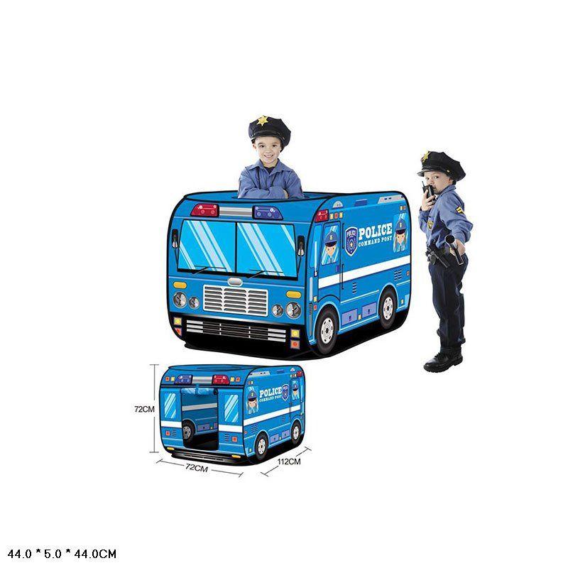 Палатка детская игровая полицейская машина (W546)