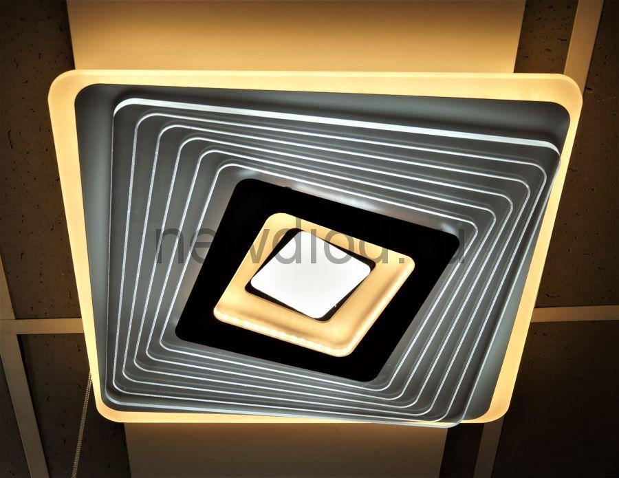 Управляемый светодиодный светильник GEOMETRIA 9253-1 90Вт-23м² 6/3/4000K пульт 500мм белый Oreol