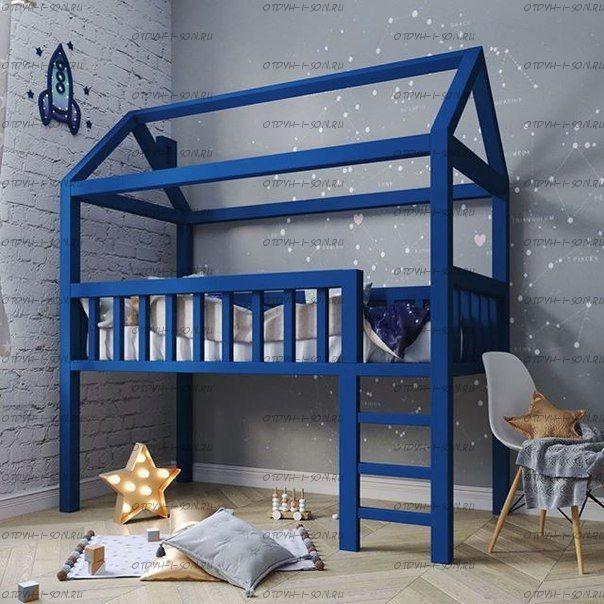 Кровать-чердак Домик Standard №21А