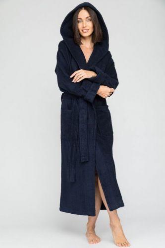 Женский махровый халат с капюшоном Sport&Style
