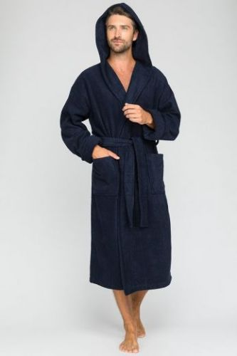 Мужской махровый халат с капюшоном Sport&Style