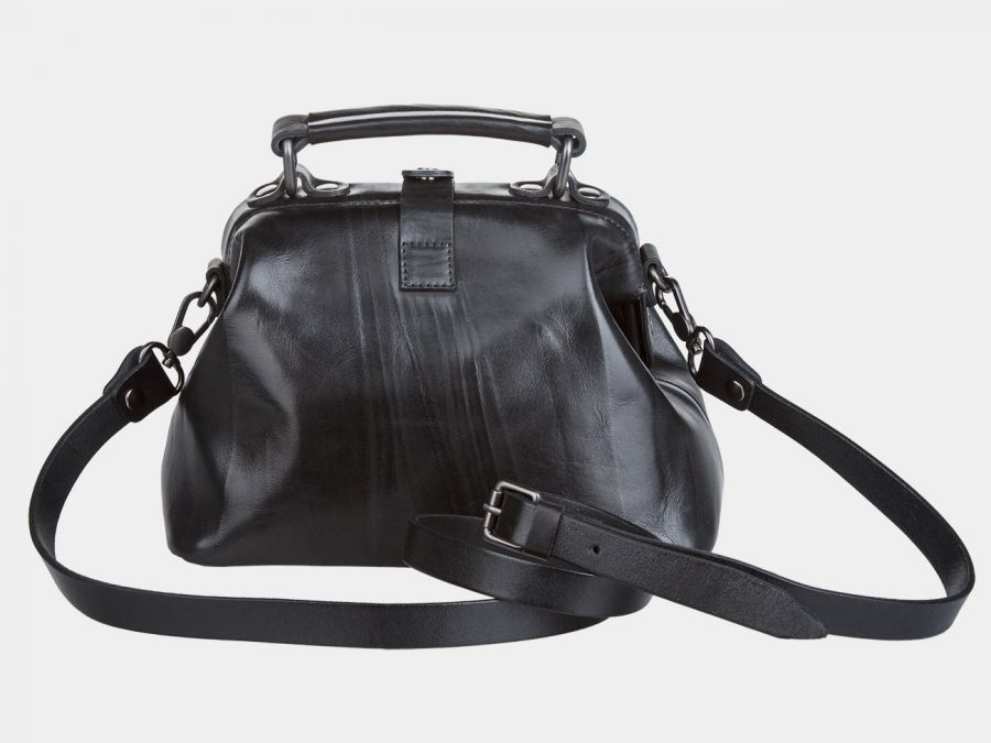 """Женская сумка-саквояж из натуральной кожи Alexander-TS """"W0013 Black"""""""
