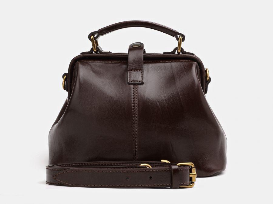 """Женская сумка-саквояж из натуральной кожи Alexander-TS """"W0013 Brown 2"""""""