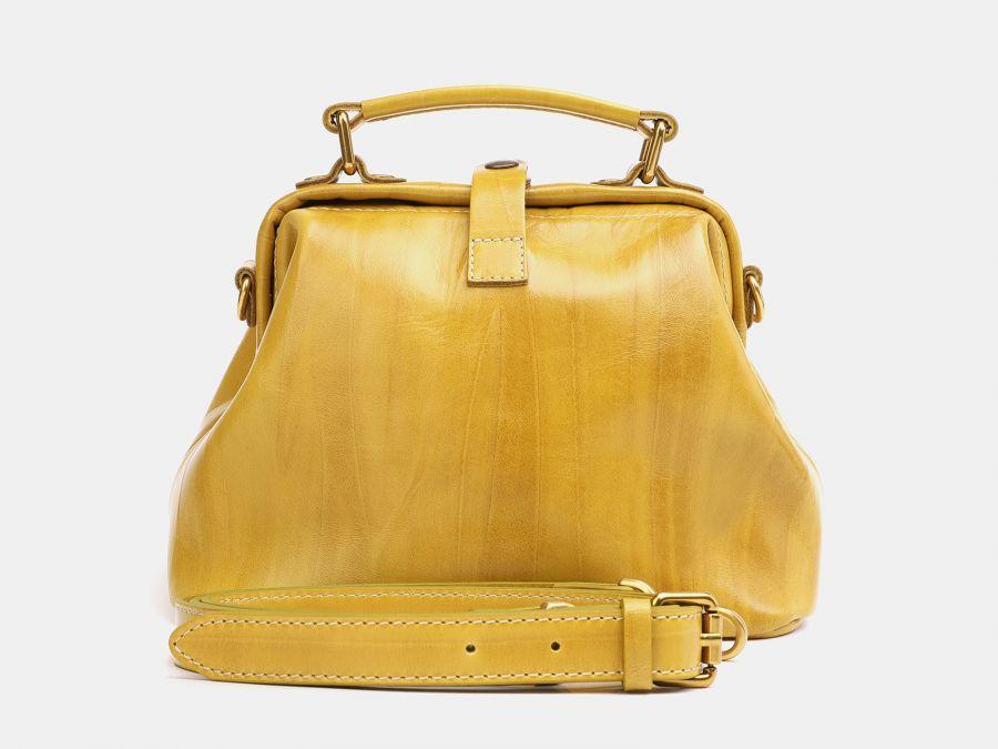 """Женская сумка-саквояж из натуральной кожи Alexander-TS """"W0013 Yellow"""""""