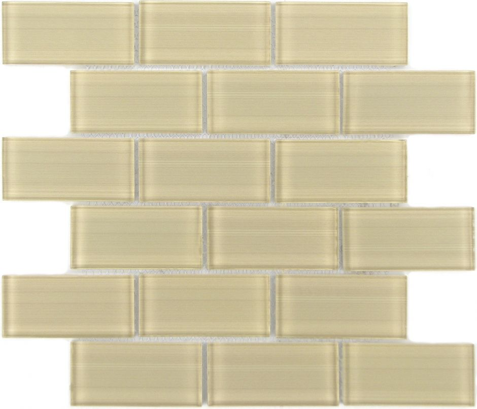 Мозаика LeeDo - Caramelle: Mattoni Crema 50х100х8 мм