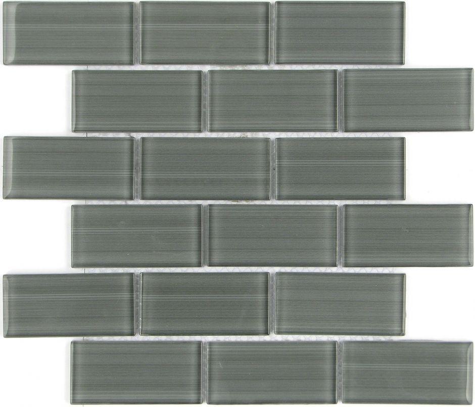 Мозаика LeeDo - Caramelle: Mattoni Grigio 50х100х8 мм