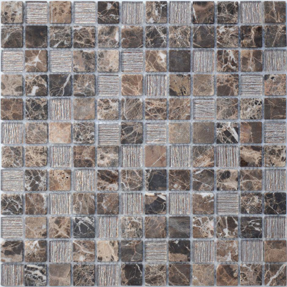 Мозаика LeeDo: Coffee Jute 23x23x4 мм