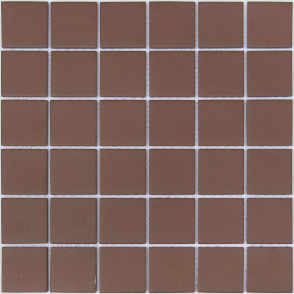 Мозаика LeeDo: Nana bruna 48x48x6 мм из керамогранита неглазурованная с прокрасом в массе
