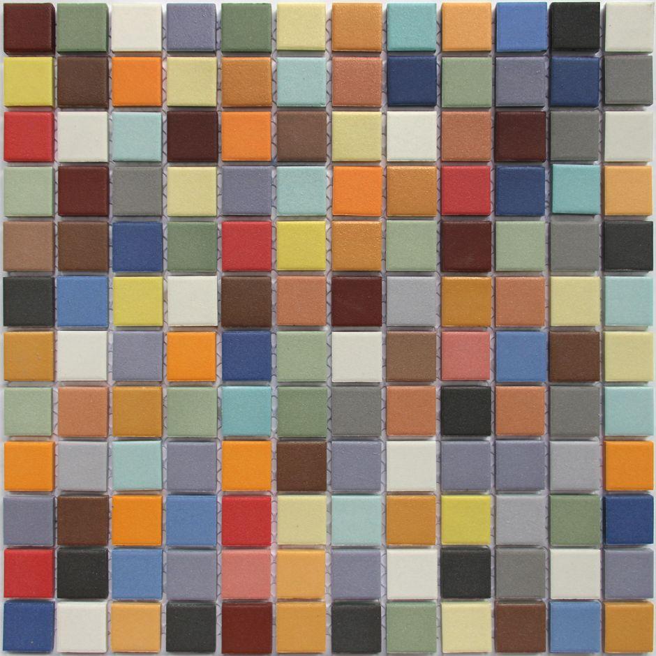 Мозаика LeeDo: Omega Centauri 23x23x6 мм из керамогранита неглазурованная с прокрасом в массе
