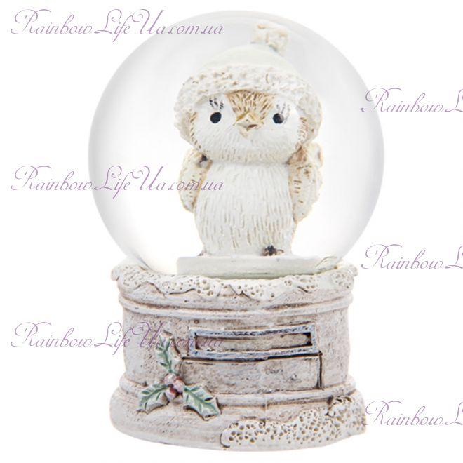 """Снежный шар стеклянный """"Совенок"""""""