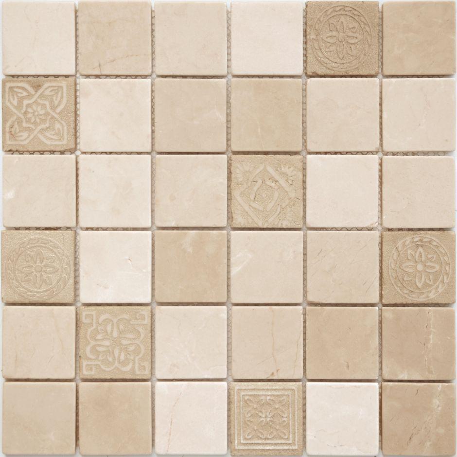 Мозаика LeeDo: Art Santa Anna матовая 48х48х8 мм