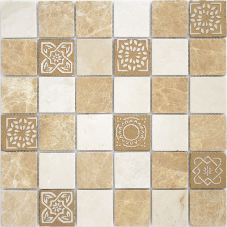 Мозаика LeeDo: Art Pietra Mix 1  матовая 48х48х8 мм