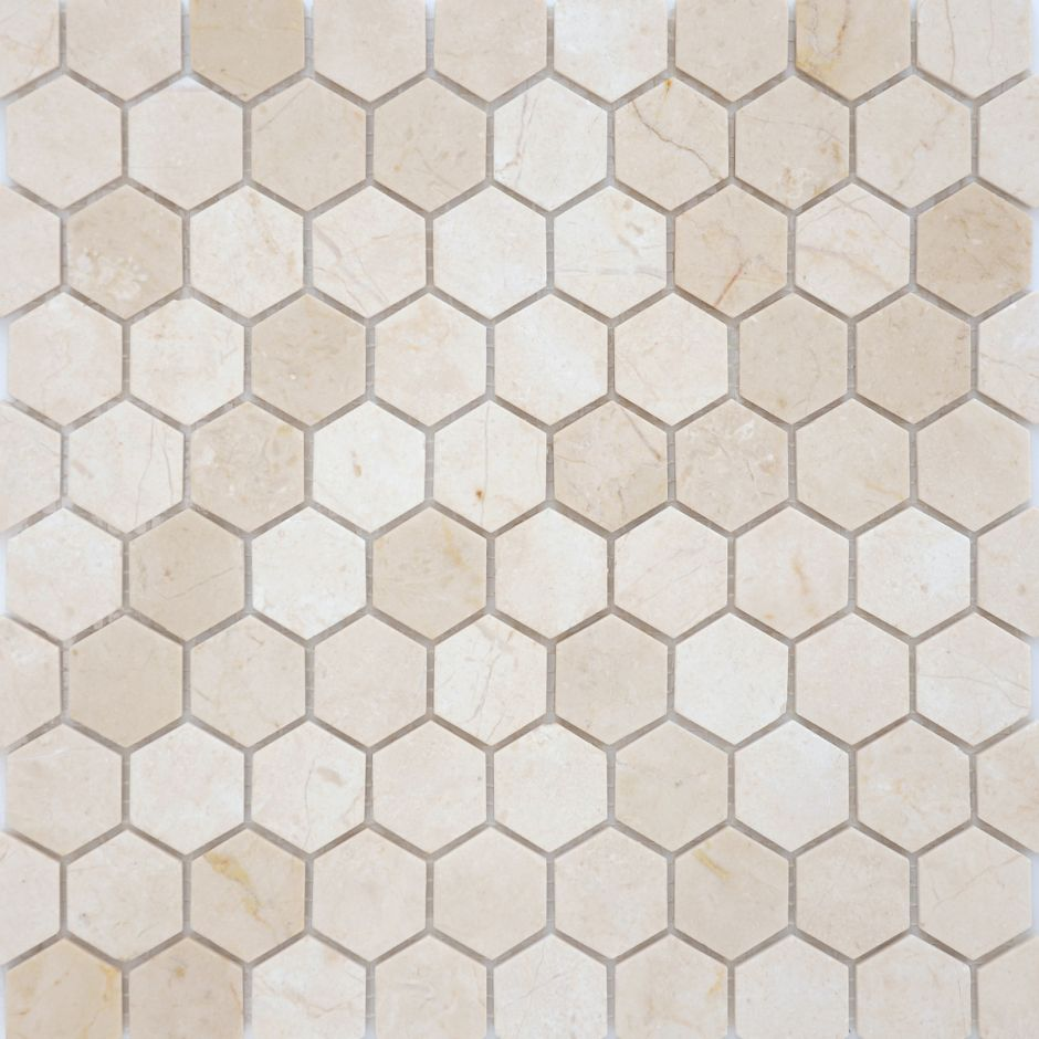 Мозаика LeeDo: Pietrine Hexagonal - Crema Marfil матовая 18х30х6 мм