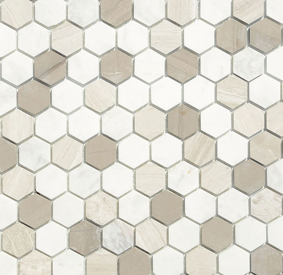 Мозаика LeeDo: Pietrine Hexagonal - Pietra Mix 3 матовая 18х30х6 мм