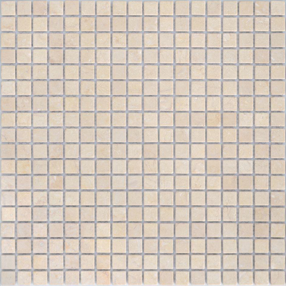 Мозаика LeeDo: LeeDo - Caramelle: Pietrine - Botticino матовая 15x15x4 мм