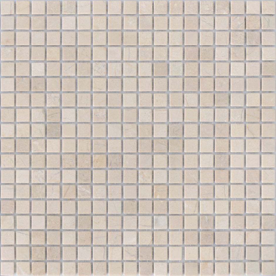 Мозаика LeeDo: Pietrine - Crema Marfil матовая 15x15x4 мм