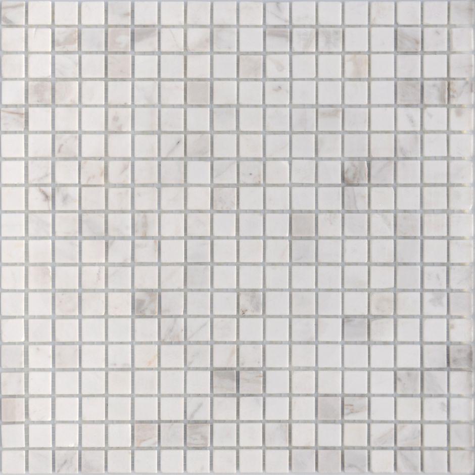 Мозаика LeeDo - Caramelle: Pietrine - Dolomiti Bianco полированная 15x15x4 мм