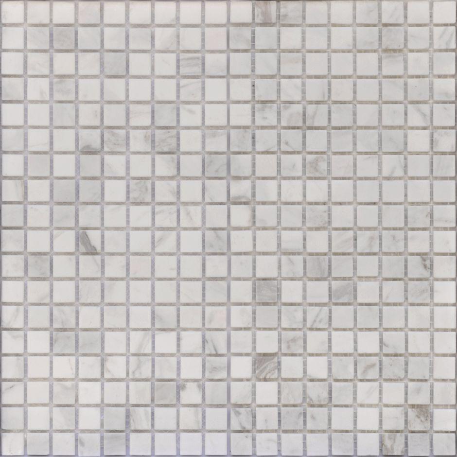 Мозаика LeeDo - Caramelle: Pietrine - Dolomiti Bianco матовая 15x15x4 мм)